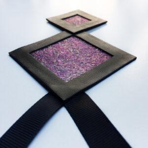 Naszyjnik geometryczny kwadraty 64 | Justine Crafts Jewelry