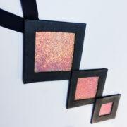 Naszyjnik geometryczny kwadraty 654   Justine Crafts Jewelry