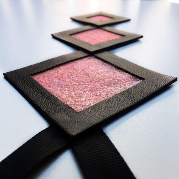 Naszyjnik geometryczny kwadraty 654 | Justine Crafts Jewelry