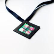 Naszyjnik geometryczny kwadrat 6 krata | Justine Crafts Jewelry