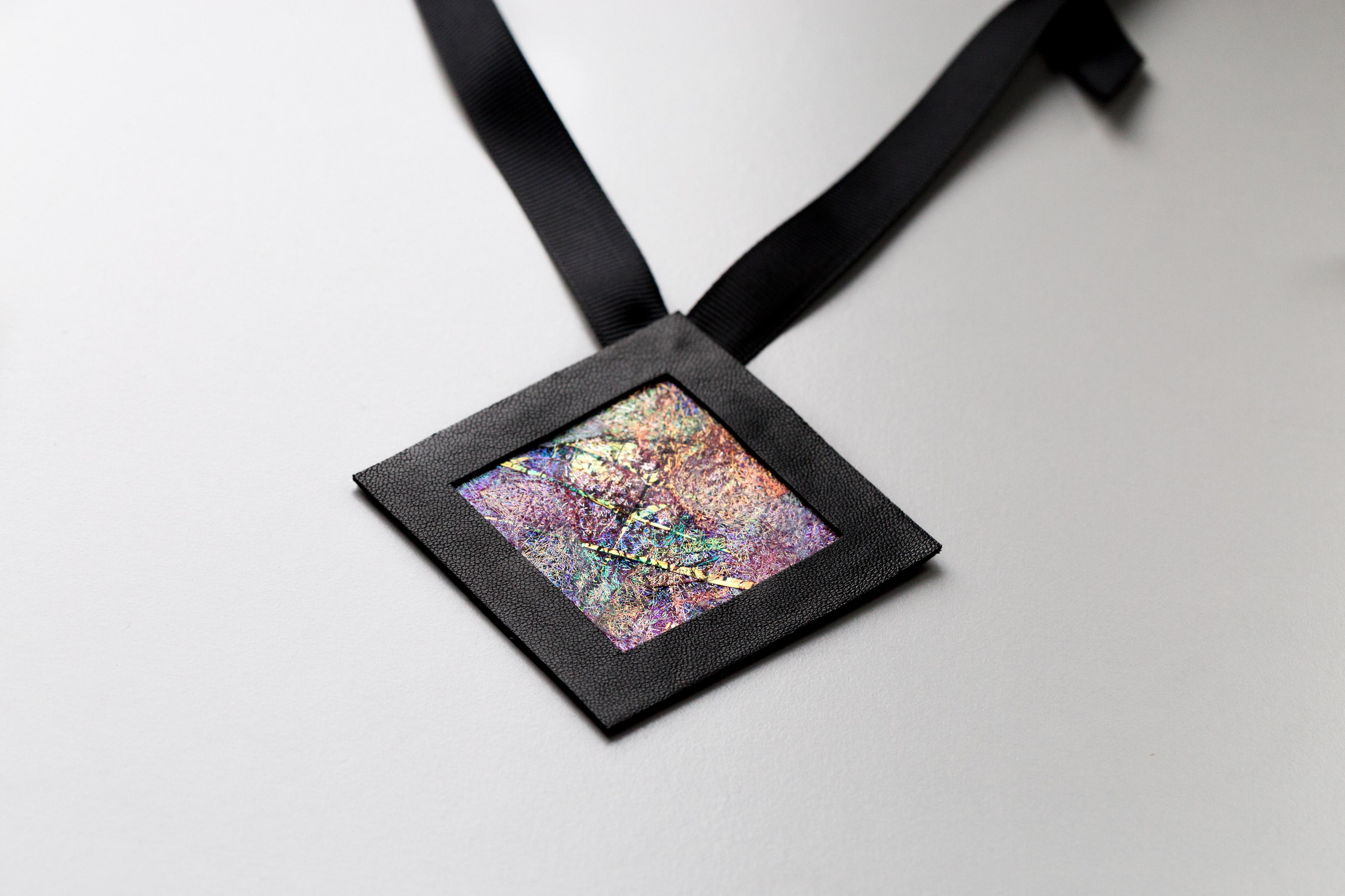 Naszyjnik geometryczny kwadrat 6 mix | Justine Crafts Jewelry