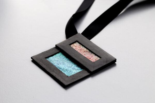 Naszyjnik geometryczny kwadrat 66 | Justine Crafts Jewelry