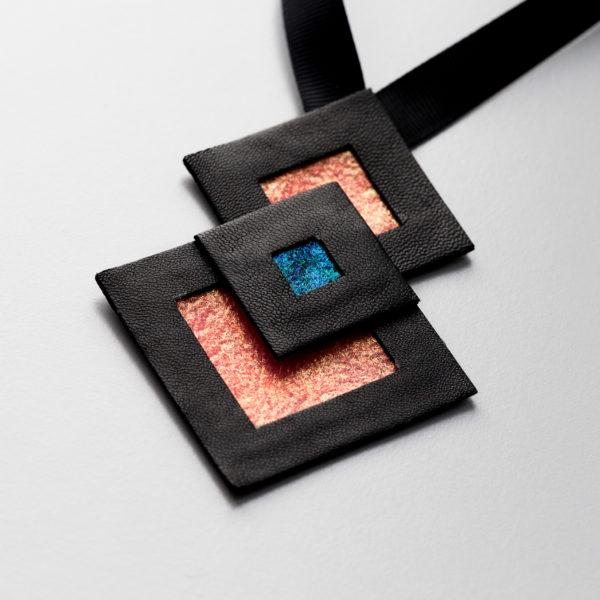 Naszyjnik geometryczny kwadraty 435 | Justine Crafts Jewelry
