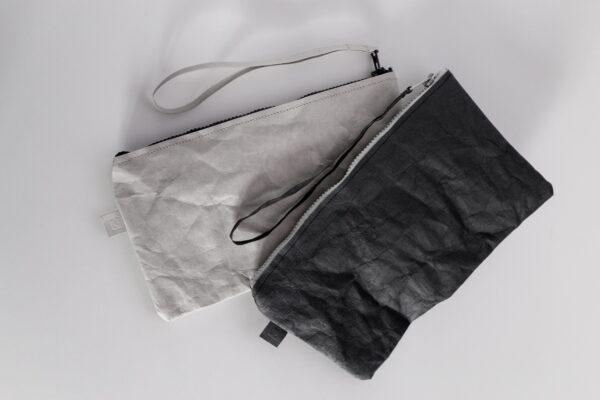 Czarna i szara kopertówka