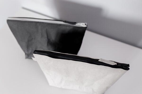 Czarna i szara kosmetyczka/torebka