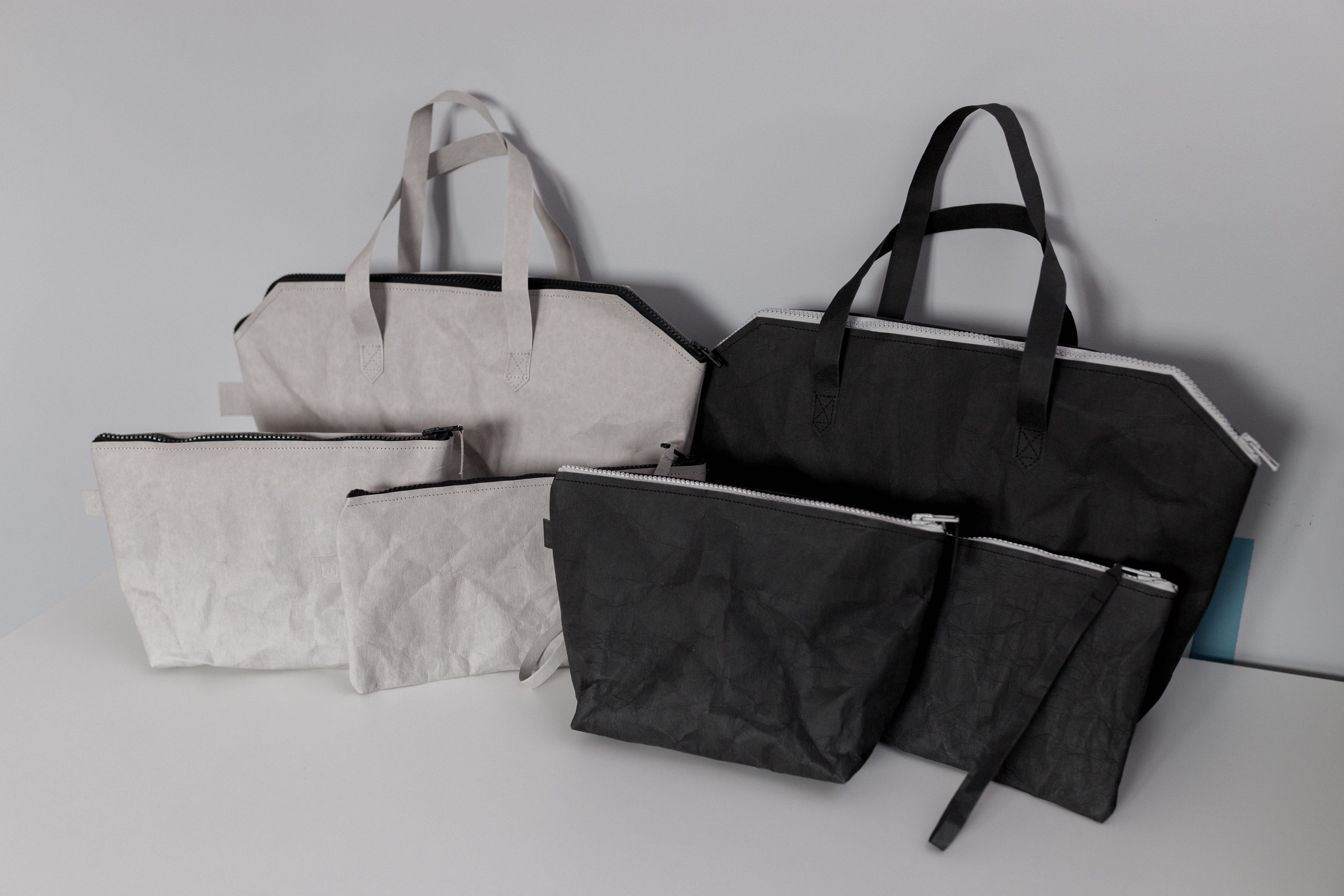 Czarny i szary zestaw 3 toreb