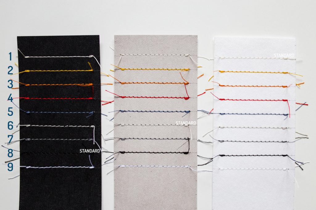 Ekstra cienki wizytownik, portfel -kolory nici (washpapa) | Justine Crafts