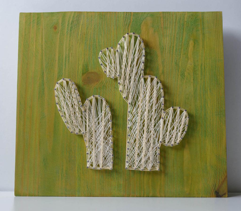 string art kaktusy