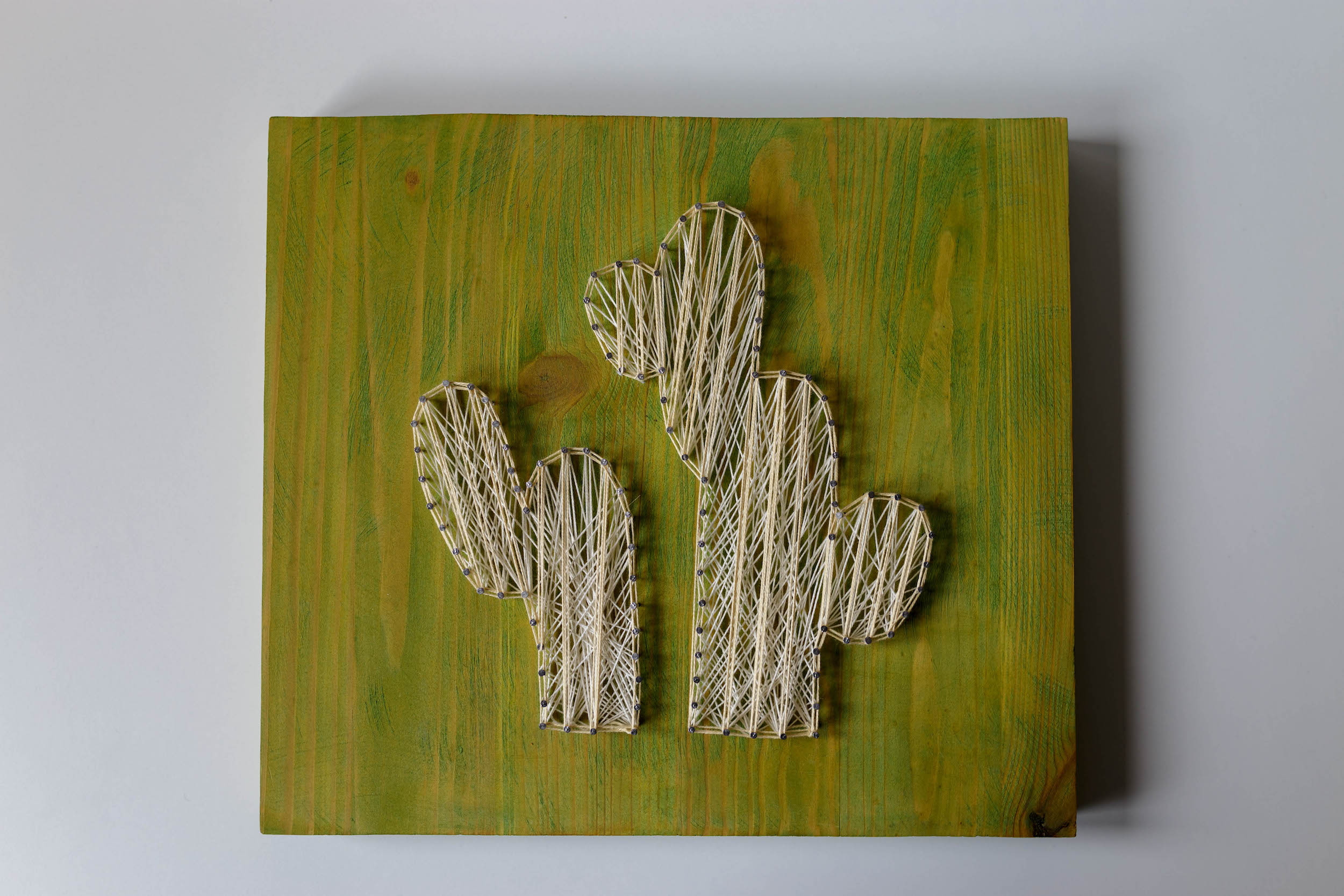 string art kaktusy